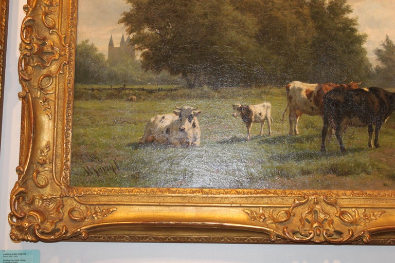This 19th century landscape painting by Dutch artist Hendrik Savrij (1823-1907) is entitled