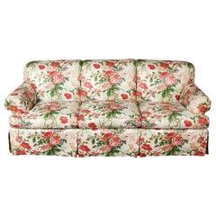 Cowtan & Tout Upholstered Three Cushion English Sofa