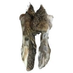 Coyote-Trimmed Fur Vest
