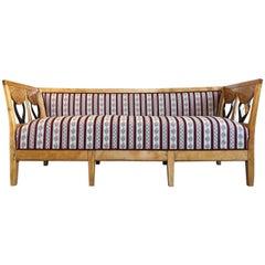 Cozy Original Restored Biedermeier Couch from 1845