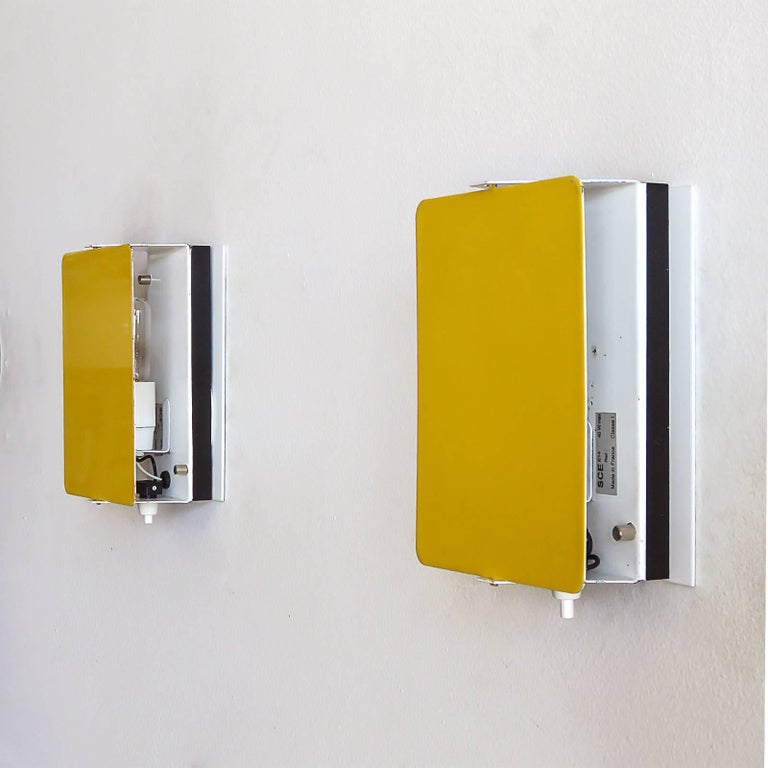 Enameled CP-1 Wall Lights by Charlotte Perriand, 1960 For Sale