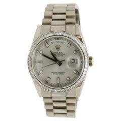 CPO Rolex Day-Date 18 Karat White Gold 5212238