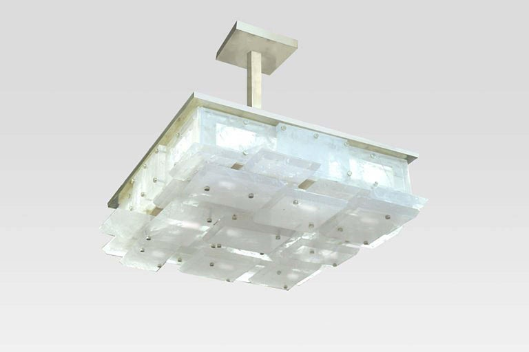 CPS Rock Crystal Semi Flush Mount by Phoenix For Sale 1