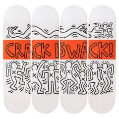 Crack Is Whack Skateboard Set by Keith Haring