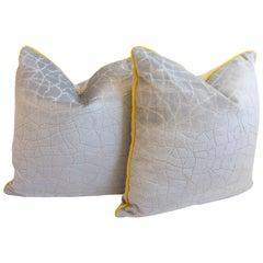 Cracked Cut Velvet Throw Pillows