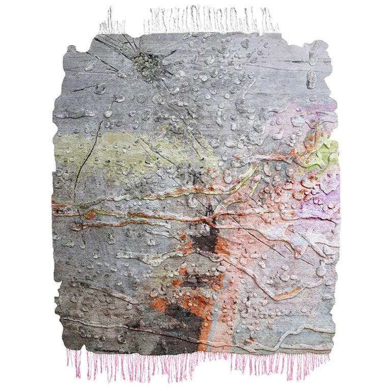 Marilyn Minter for Henzel Studio Cracked Glass rug, new