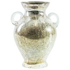 Cracked Glass Vase, Austria, Mid-1900