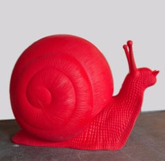 Red Snail by Cracking Art Group - Polyethylene