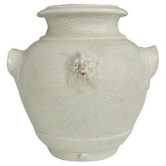 Crackle Glaze Italian Pottery Urn Marked Made in Italy for Tutto Bene, 1830