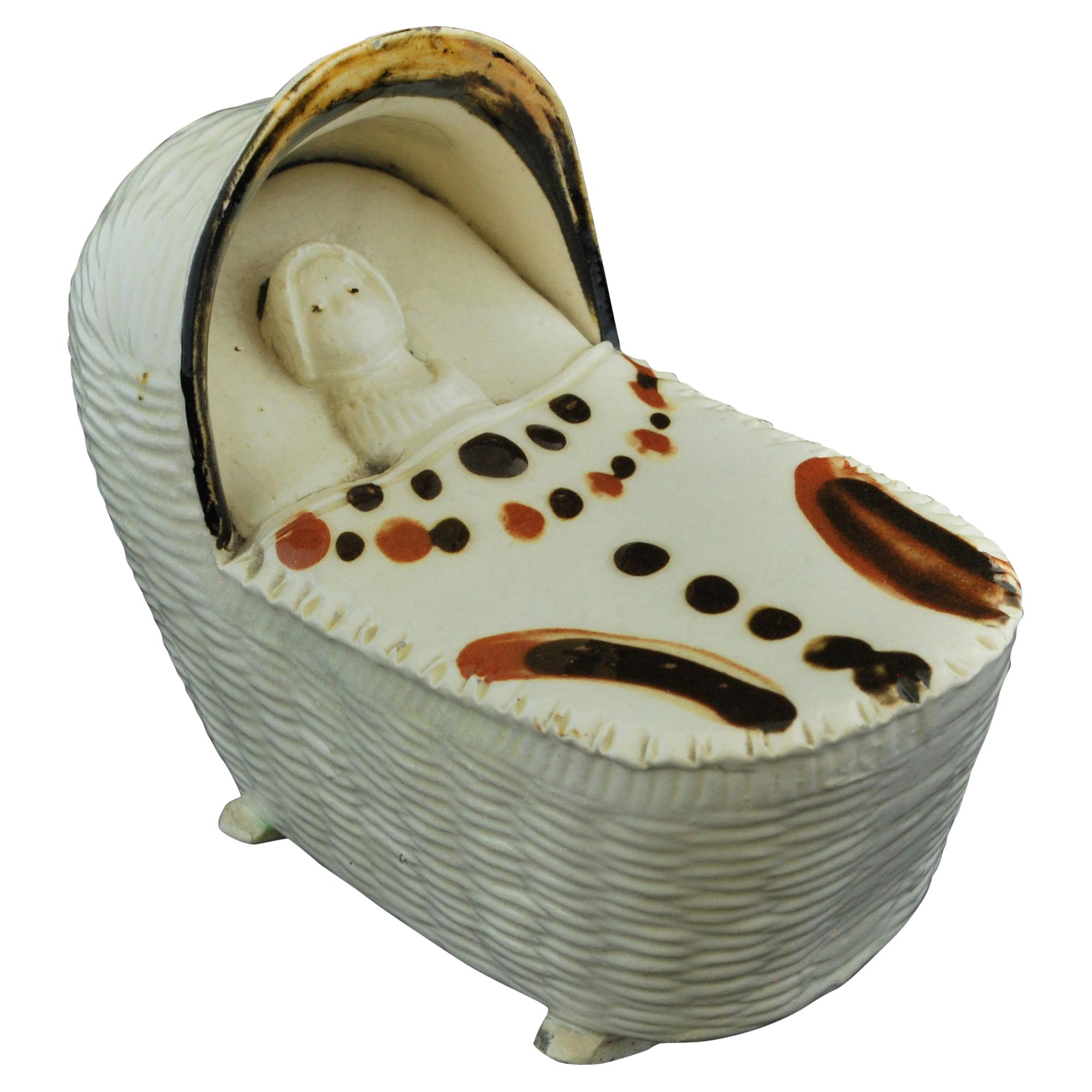 Cradle with Infant, Bovey Tracey, circa 1790