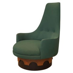 Craft Associates 1960s Adrian Pearsall High Back Swivel Chair
