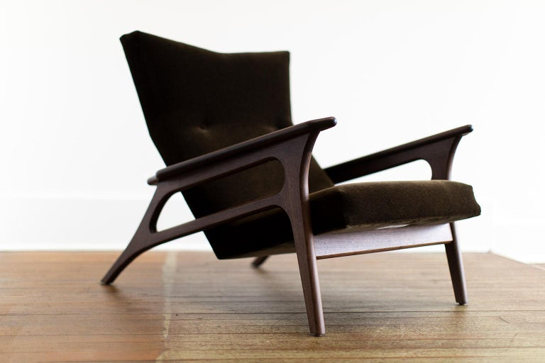 Mohair Craft Associates Modern Lounge Chair, 2002, the Parallax For Sale