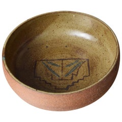 Crafted Ceramic Pottery Bowl Midcentury California Harrison Mcintosh Style 1960s