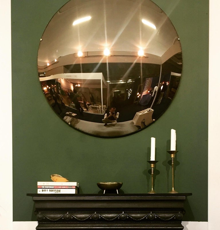 Crafted Frameless Orbis™ Bronze Tinted Convex Mirror In New Condition For Sale In London, GB