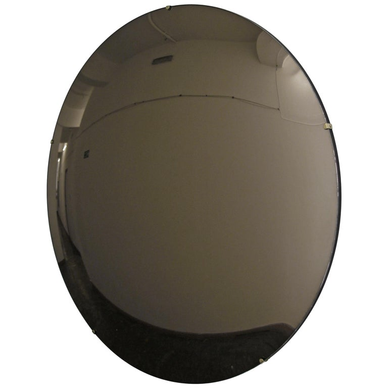 Crafted Frameless Orbis™ Bronze Tinted Convex Mirror For Sale