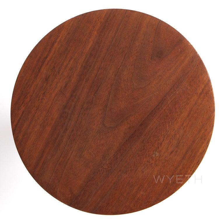 American Craftsman Craftsman Walnut Turned Pedestal or Stool For Sale