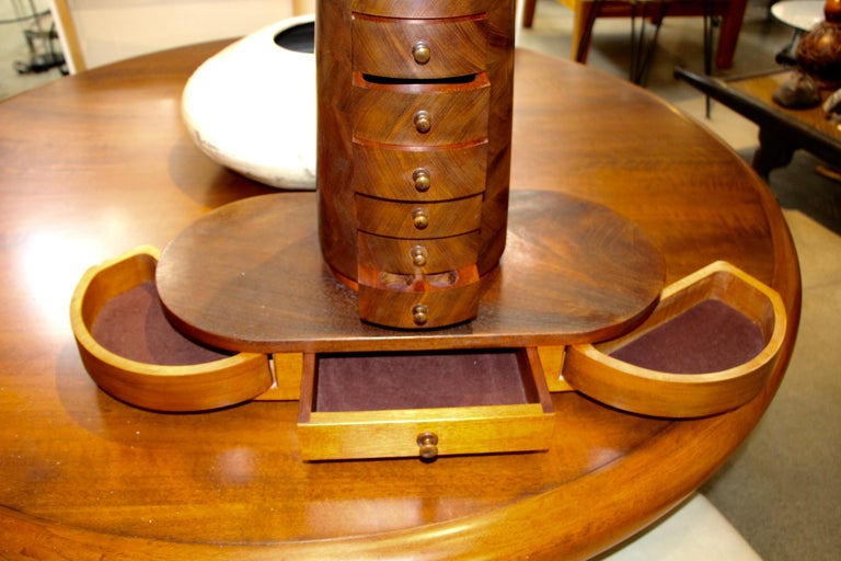 Craftsman's Handmade Jewelry Cabinet For Sale 5