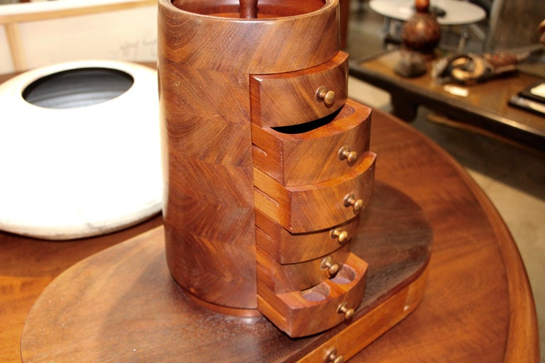 Craftsman's Handmade Jewelry Cabinet For Sale 3