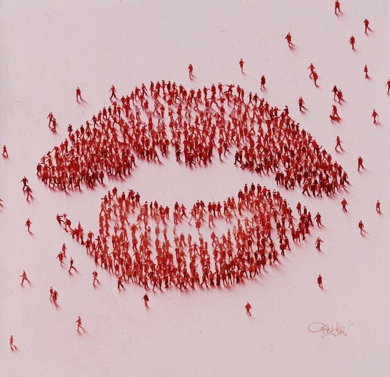 Everyone Loves A Kiss - Mixed Media Art by Craig Alan