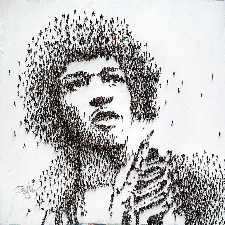 Hendrix - Mixed Media Art by Craig Alan