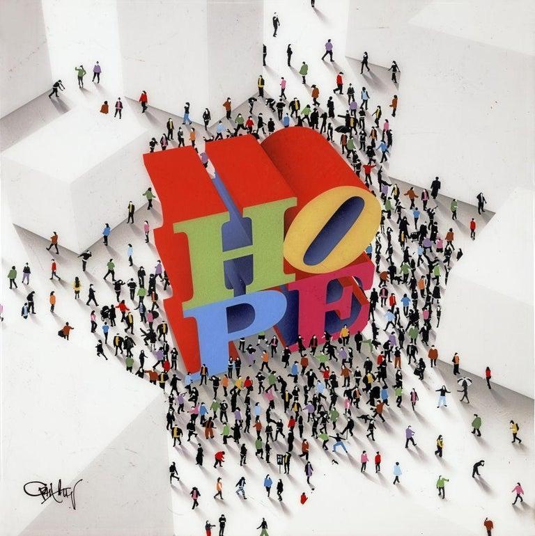 Hope Around The Corner - Mixed Media Art by Craig Alan