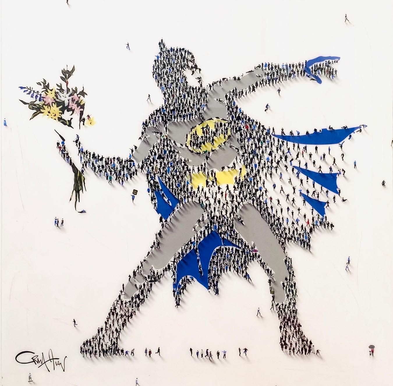 Make Bat to Sense, Mixed Media Original on Board with Resin