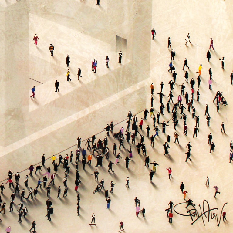 Wrong Way, Mixed Media on Board with Resin - Contemporary Mixed Media Art by Craig Alan