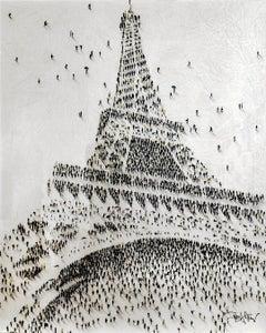"""""""Viva la Liberte"""" -  pop art, Paris, Eiffel Tower, France, populus, pop culture"""