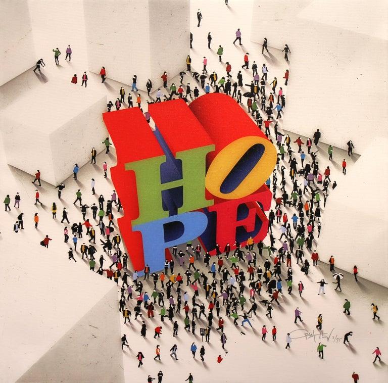 Craig Alan Abstract Print - Hope Around The Corner
