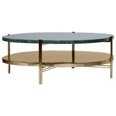 Craig Cocktail Table in Polished Brass and Marble