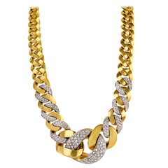 Craig Drake Diamond Yellow Gold Necklace