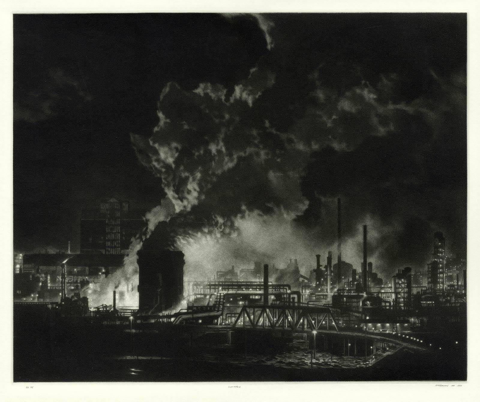 Clairton (night view of US Steel Clairton coke plant, largest in America)