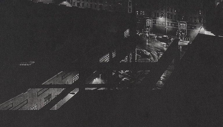 Girders (rainy night view of artist's former studio in Washington Heights - Contemporary Print by Craig McPherson
