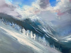 "Craig Mooney, ""Snow Squalls"", Winter Mountainscape Oil Painting, 2020"