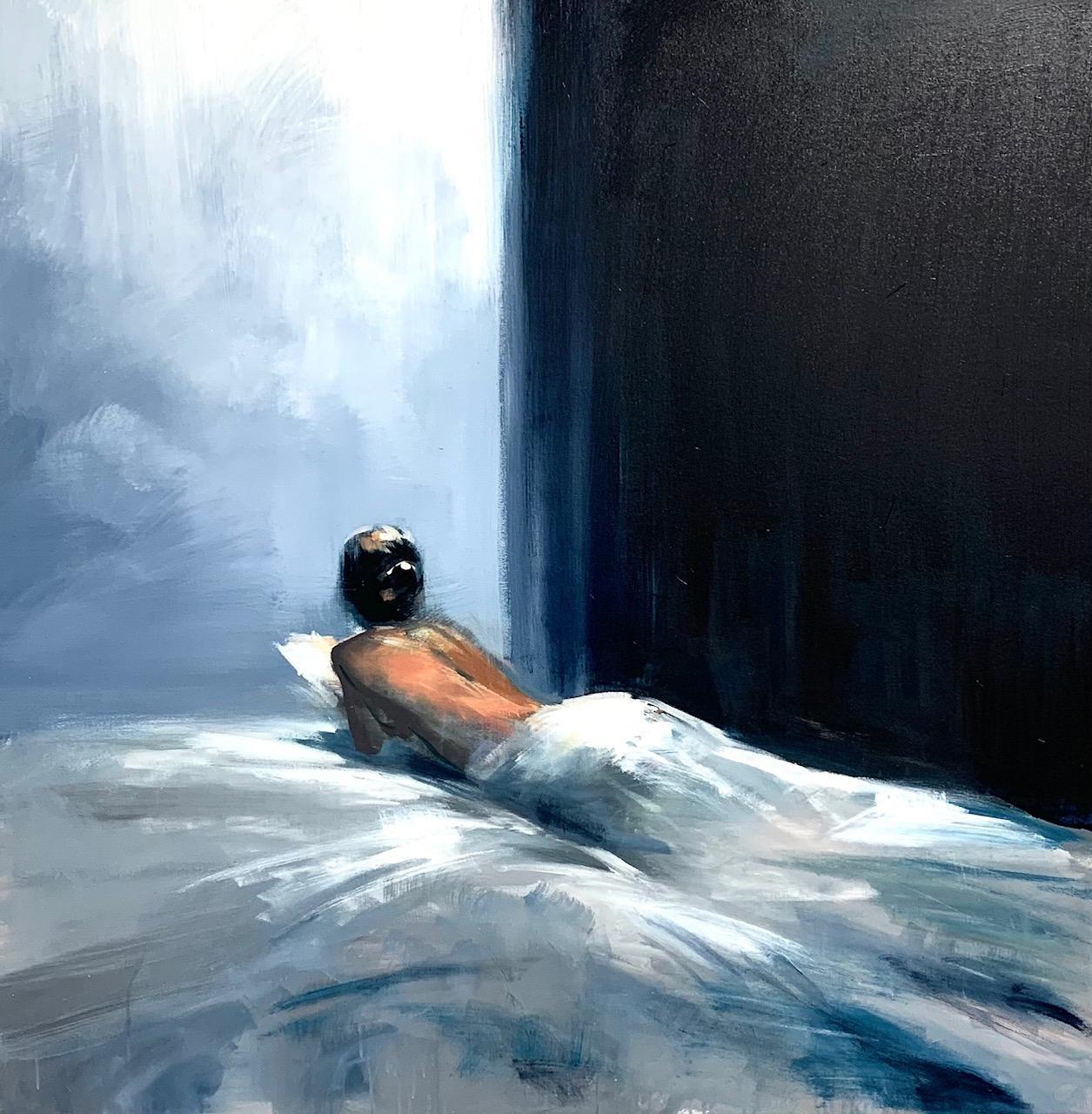 Indigo Dreams- figurative oil painting by Craig Mooney