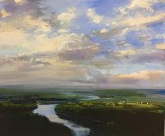 Lost in a Dream, Large Horizontal Representational Landscape Oil Painting