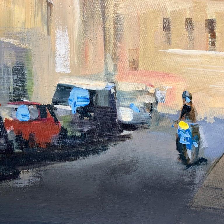 Quiet Street (Paris), Large Representational Oil on Canvas Cityscape Painting  2