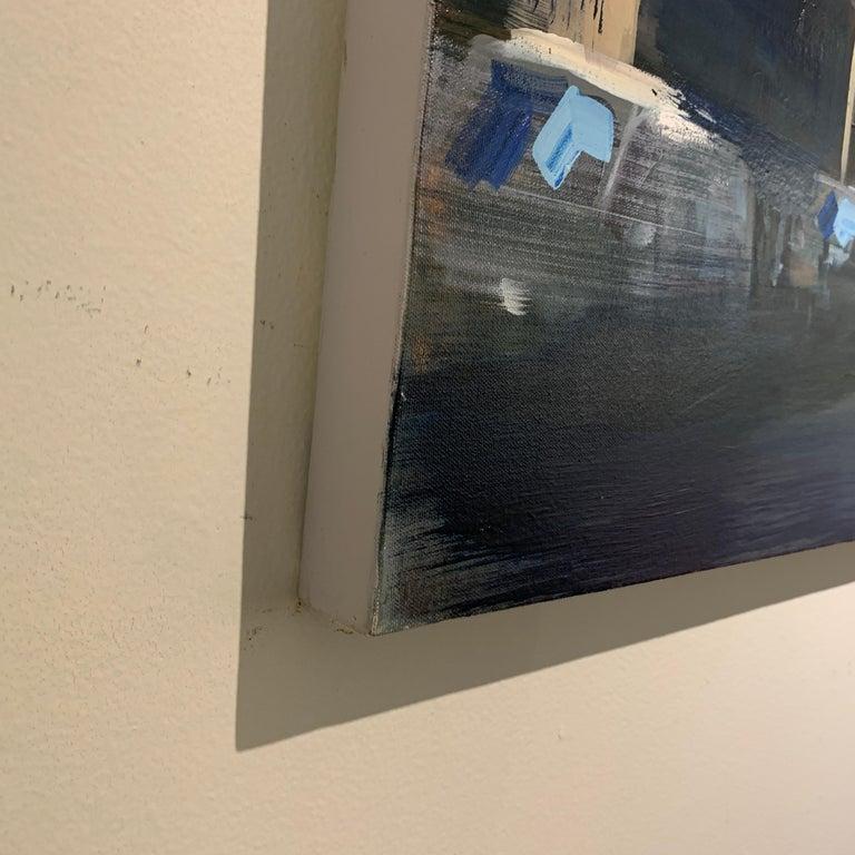 Quiet Street (Paris), Large Representational Oil on Canvas Cityscape Painting  5