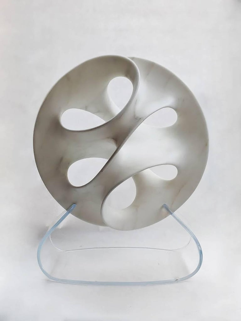 Infinite Loop Forms Series. Carved from a single piece of Marble sourced from the quarries in Carrara, Italy.   Craig Schaffer (American, b. 1949) received his B.A. from the University of California, Santa Cruz and his M.F.A. from the University of