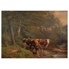 "Craig Thomas Bigelow ""Cows in a Stream"""