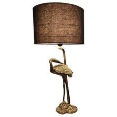 Crane Bird Table Lamp, 1980s