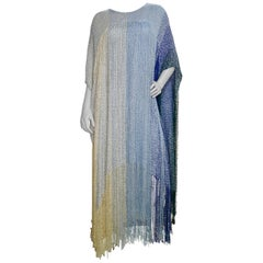 Crane Day Hand Weaver 1990s Ombre Cocktail Poncho