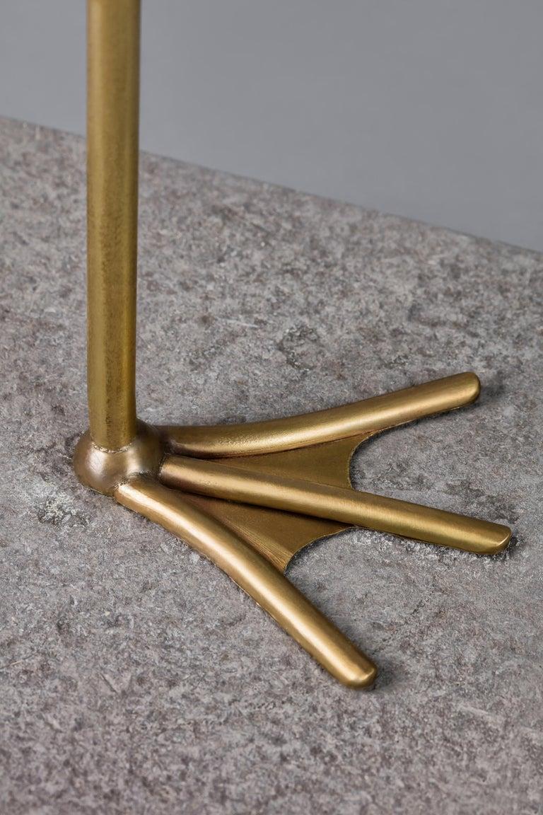 Blown Glass Crane, Unique Floor Lamp Sculpture, Ludovic Clément d'armont For Sale