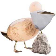 Pelican - Unique Floor Lamp Sculpture, Ludovic Clément d'Armont