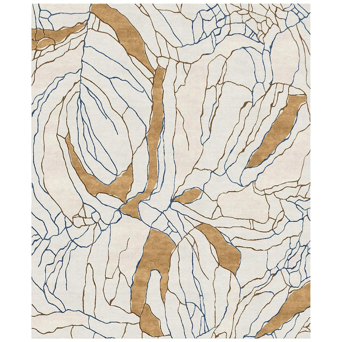 Narcissus Affair - Floral Luxury Hand Knotted Wool Silk Rug