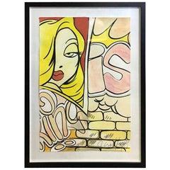 """Crash John Matos Large Original Watercolor Painting """"Jessica Rabbit"""", 1990"""