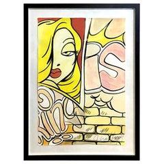 Crash John Matos Signed Large Original Watercolor Painting Jessica Rabbit, 1990