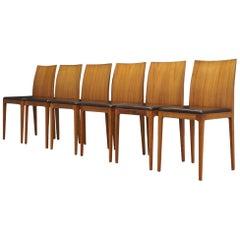 Crassevig Walnut Chairs Vintage, 1990 Retro
