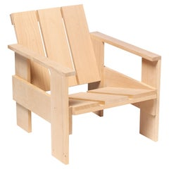 Crate chair in natural beech wood, designed by Gerrit Rietveld in 1934
