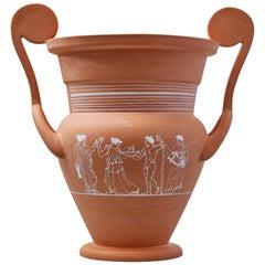 Cratera, Decorated Terracotta Vessel, Classic Greek ceramic Inspiration